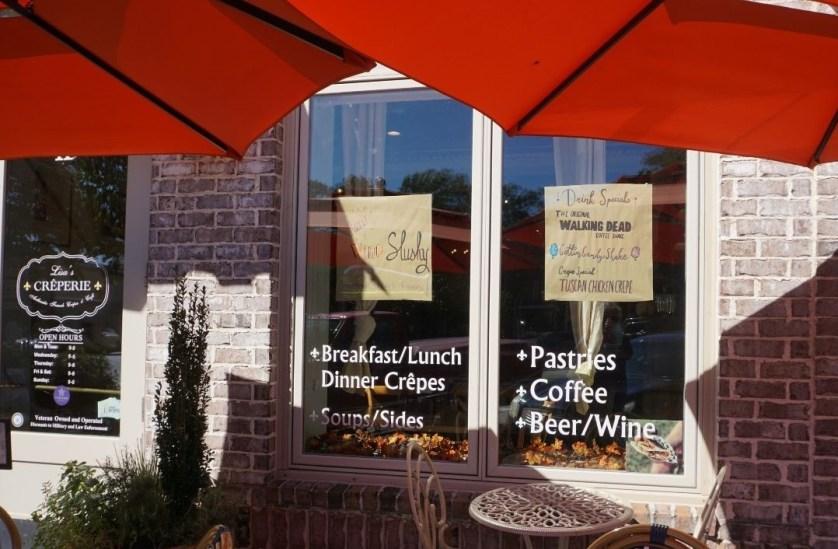 Lisa's Creperie Serves the Original Walking Dead Coffee Shake in Senoia, Ga.