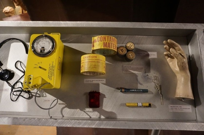 Some of the Artifacts at the National Atomic Testing Museum in Las Vegas.