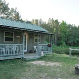 HipCamp Stay in Winnsboro, South Carolina: Rosewood Rendezvous Tiny Cabin