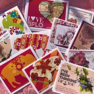 Beautiful Buffalo floral notecards from Buffalo Gals Gifts.