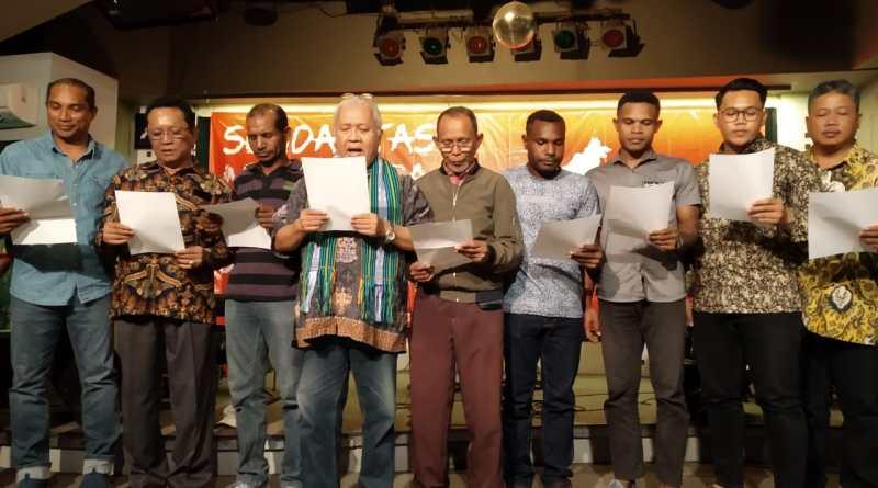 Aliansi Masyarakat Nusantara Gelar Deklarasi Solidaritas untuk Papua Damai