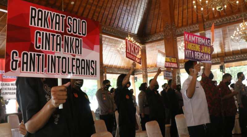 Masyarakat Solo Deklarasi Tolak Demo Anarkis