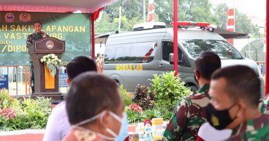Panglima Komando Daerah Militer Jawa Tangah, Mayor Jenderal TNI Bakti Agus Fadjari Resmikan Rumah Sakit Lapangan di Solo