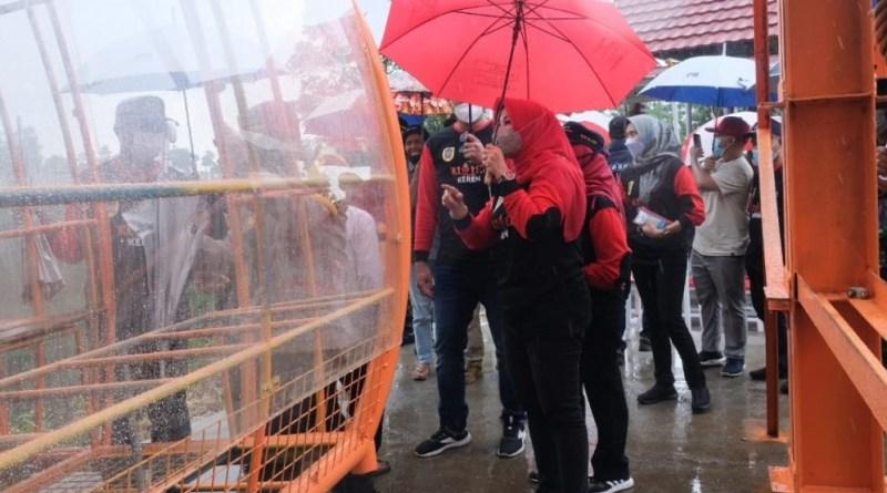Bupati Klaten Sri Mulyani meresmikan, Kereta gantung