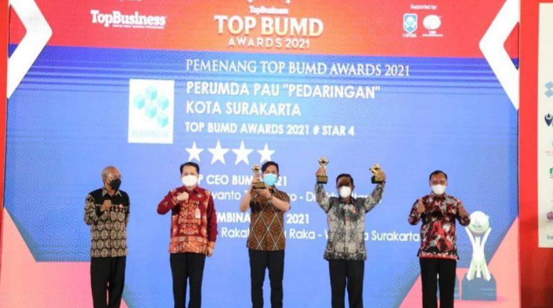 TOP BUMD Awards PAU Pedaringan dan BPR Bank Solo