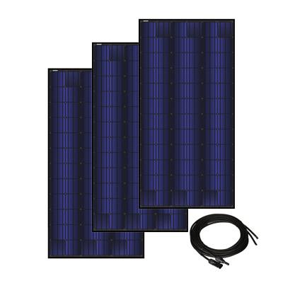 Solar Panel Kit for Solar A/C- 3 Panels, 350 watt ea., 72 cell triple black