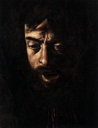 Détail de la tête de Goliath - autoportrait du Caravage