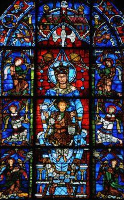 """Vitrail de """"Notre-Dame de la Belle-Verrière"""" - Notre-Dame de Chartres"""