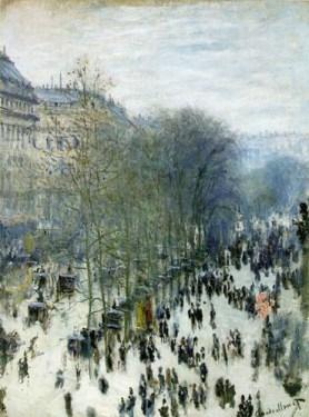 Monet, Boulevard des Capucines, 1873, exposé lors de l'exposition impressionniste de 1874