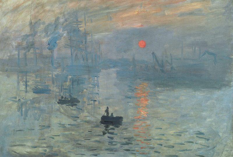 """Tableau de Monet """"Impression. Soleil levant"""""""