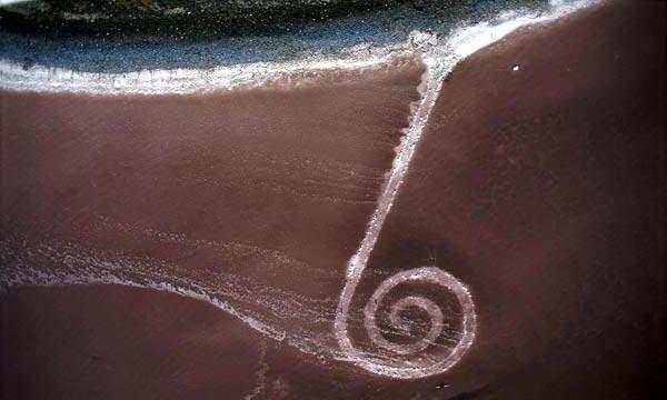 Spiral Jetty de Robert Smithson vue du ciel
