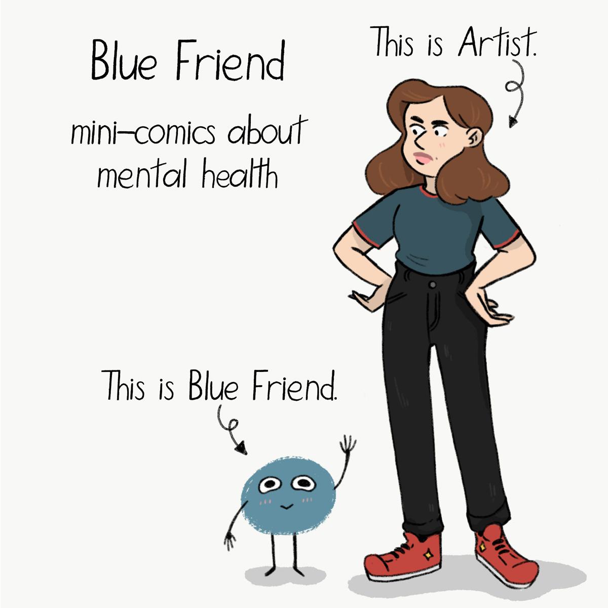 Blue Friend Panel #1 by Grace Desmarais