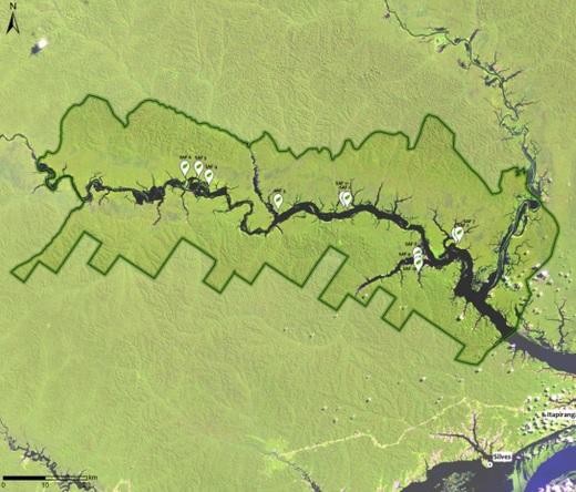 Mapa mostra área onde serão plantadas as árvores do programa