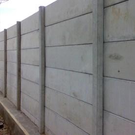 pagar panel beton polos