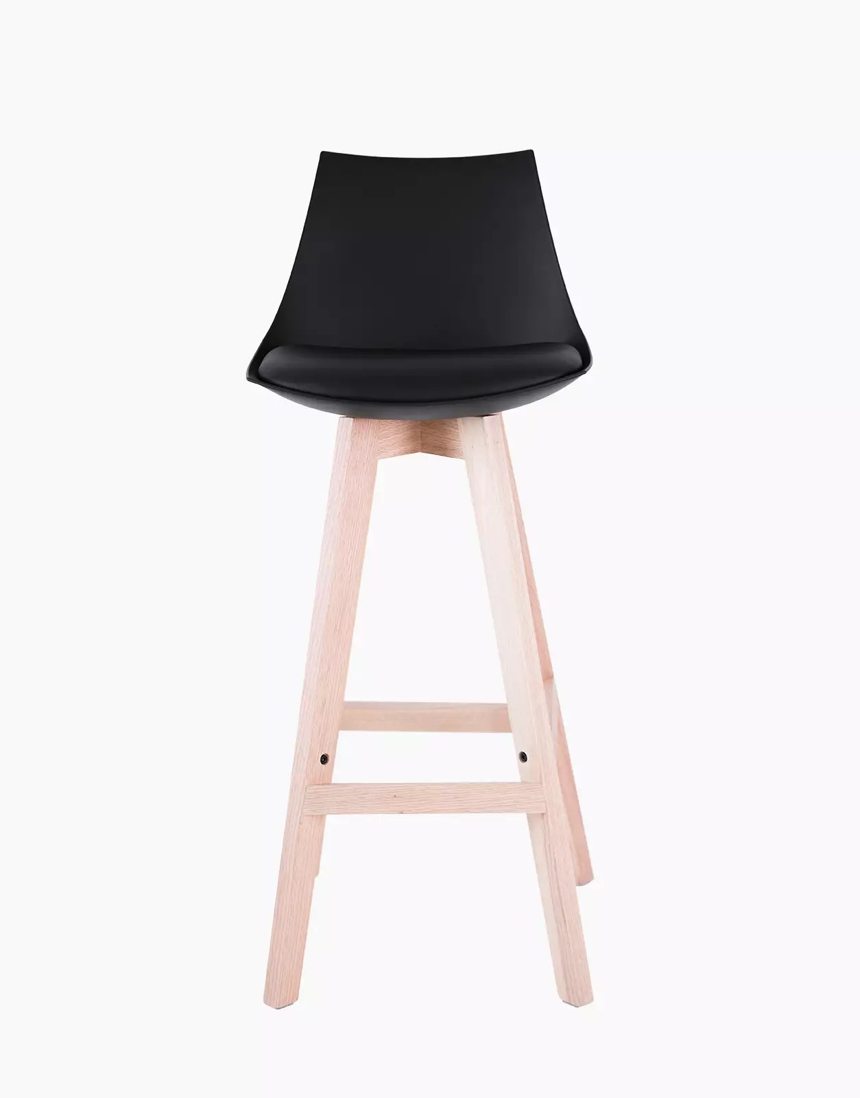 bar stool kim black set of 2 solution design fr furniture lighting decoration