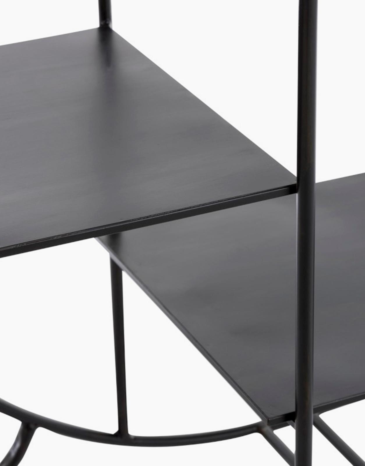 Black Metal Round Shelf Solution Design Fr Furniture Lighting