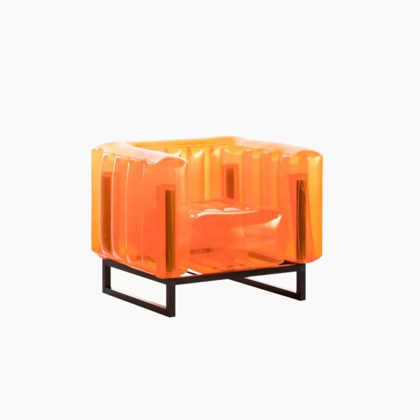 Revendeur de Mojow solution design fr mobilier assises fauteuil yomi orange cristal
