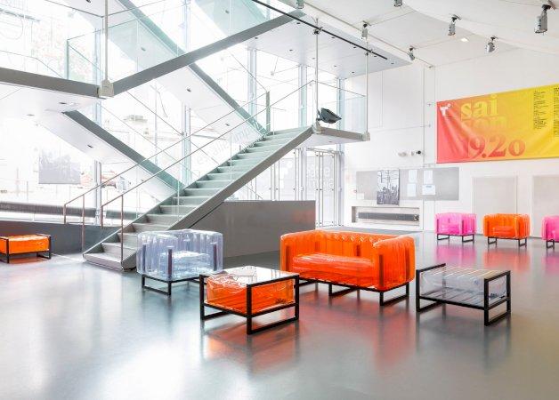 Revendeur de Mojow solution design fr mobilier assises fauteuil Yoko orange_cristal