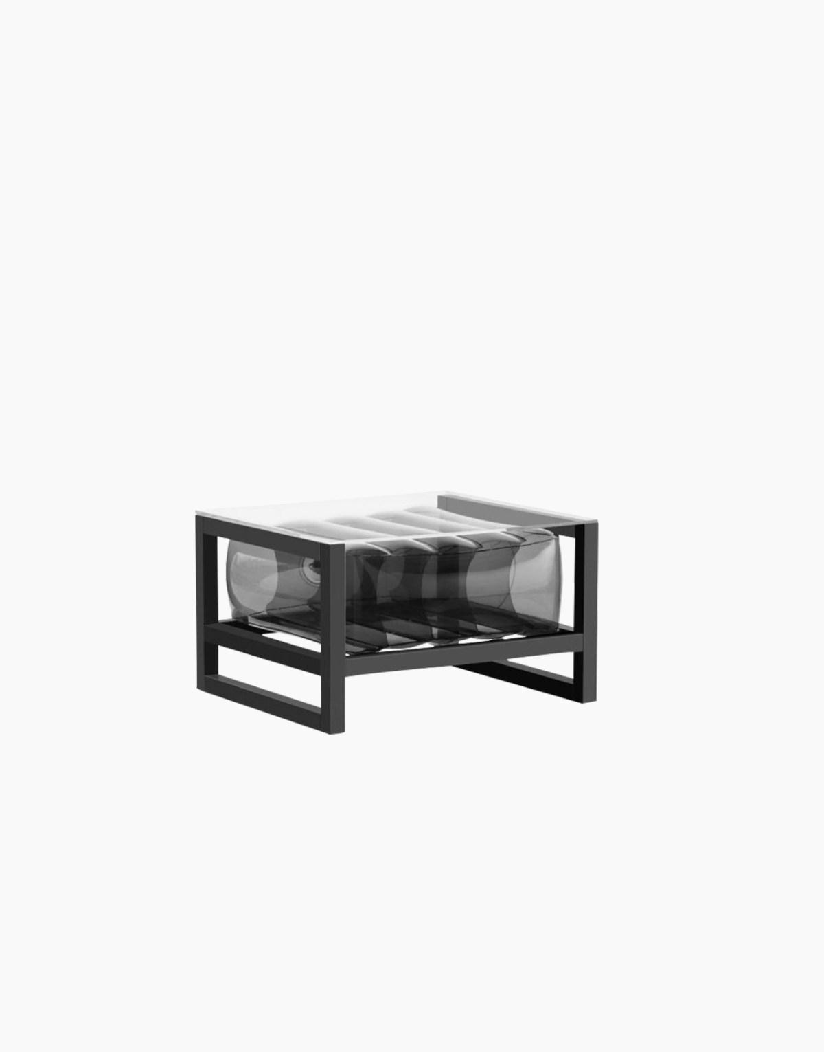 Revendeur de Mojow solution design fr mobilier table basse Yoko blanc noir cristal