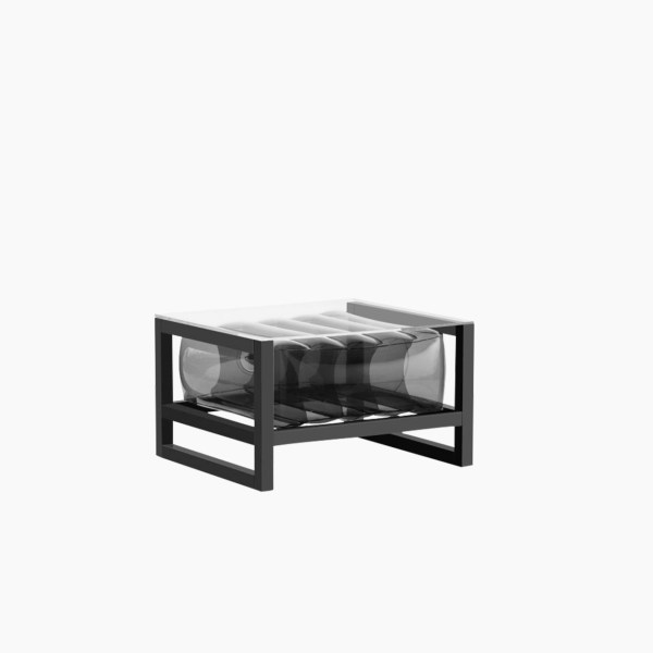 Revendeur de Mojow solution design fr mobilier table basse Yoko blanc noir cristal