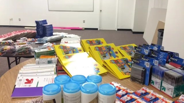 Houston Food Bank stocks up on school supplies