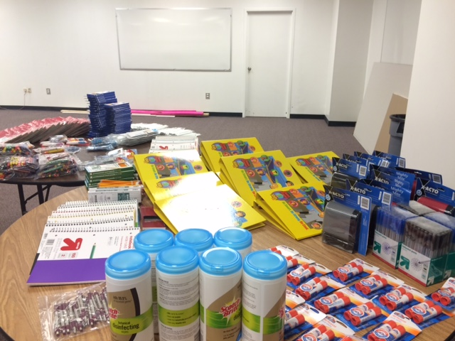 Houston Food Bank stocks up on school supplies