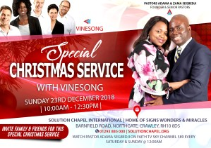 SPECIAL CHRISTMAS SERVICE WITH VINESONG