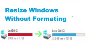Expand the size of C Drive without loosing data,