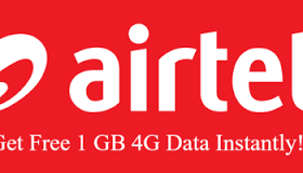 My Airtel App Welcome offer : Get Free 1 GB 3G/4G Data on Downloading airtel app ( herewww airtel 1gb free )