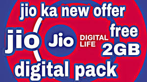 Jio Digital Pack Offer Details : Offering free 8 GB data with 4 Days validity