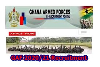GAF 2020/21 Recruitment -How to Apply Ghana Armed Forces Recruitment 2020/2021