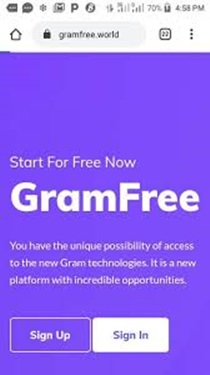 Gramfree.World Sign Up   Gramfree.Login and Make Money Daily Into Your Account