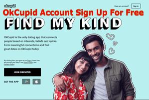 OkCupid Account Sign Up