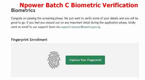 Npower Batch C Biometric Verification – How To Capture Fingerprint On Nasims Portal
