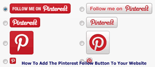 How To Add The Pinterest Follow Button To Your Website   Locate Follow Button On Pinterest