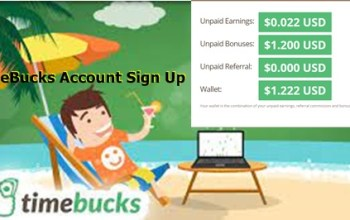 TimeBucks Account Sign Up