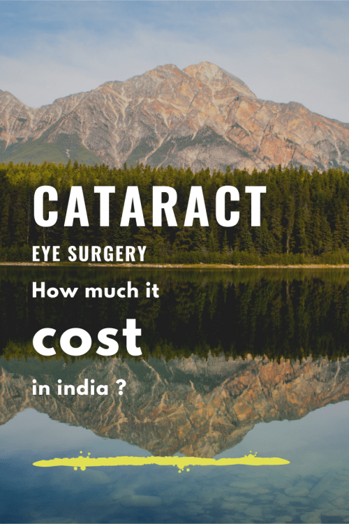 How much a Cataract surgery cost in India?