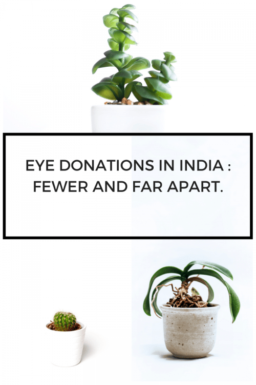 Eye donations in India : Fewer and far apart.