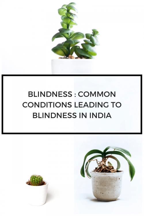 Blindness : Common conditions leading to blindness in India