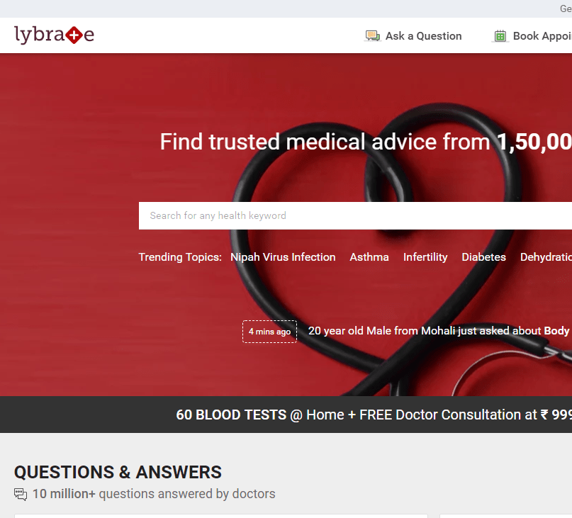 where to search for a doctor online?
