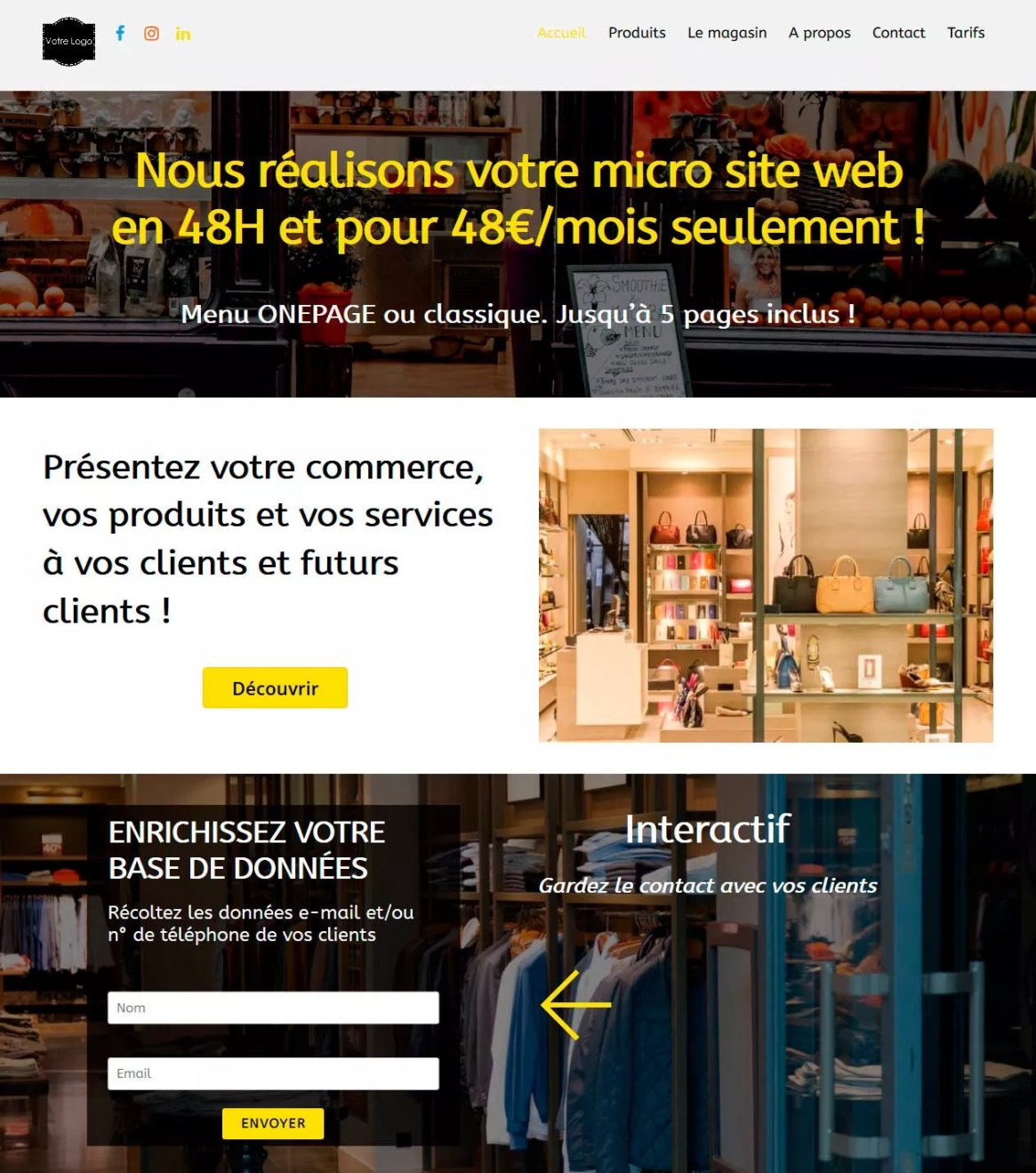 micro-site-web-page-exemple