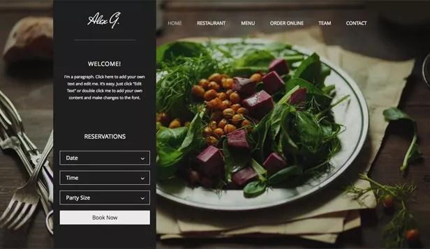 site web restaurants