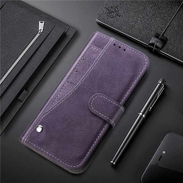 Rose Red Leather Stand Wallet Flip Book Case For Samsung S9