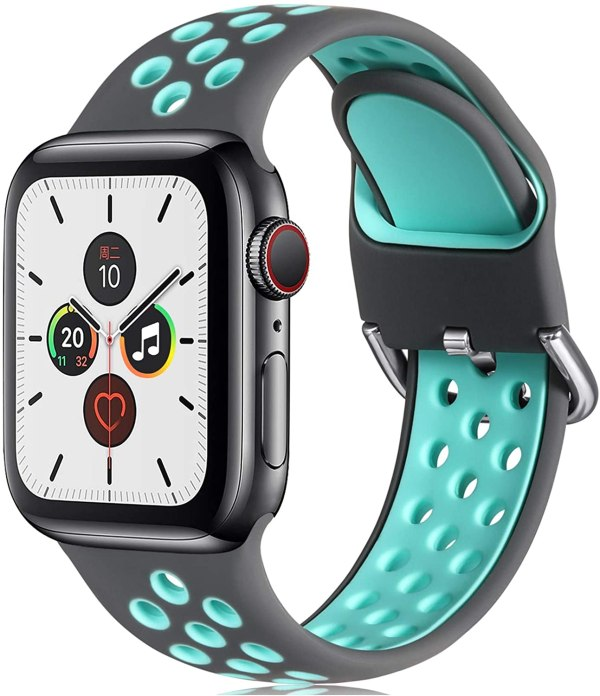 Replacement Strap Compatible with Apple Watch Strap Grey Teal 5
