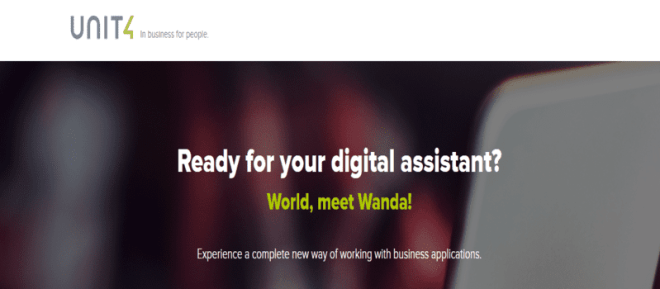 Unit4 Releases Wanda Bot: the First Self-Driving ERP User Experience