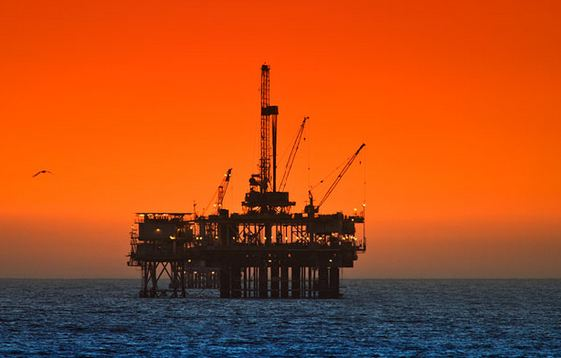 Offshore  North Sea sunset