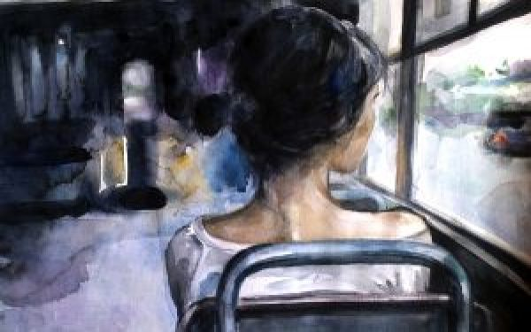 lonely-girl-bus