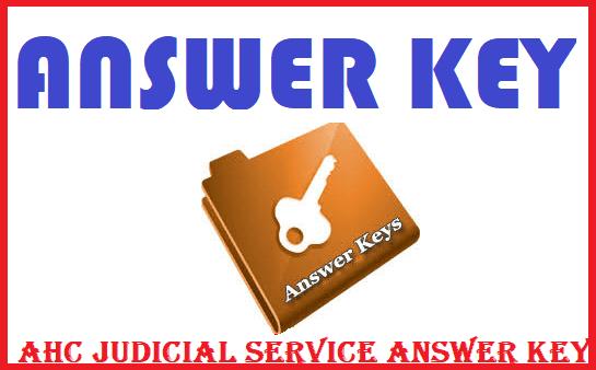 AHC Judicial Service Examination 2021