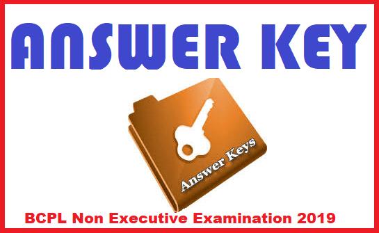 BCPL Non Executive Examination 2019