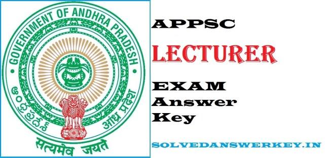 APPSC Lecturer Examination 2020